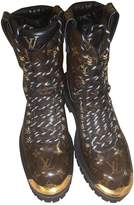 Louis Vuitton Brown Patent leather Boots
