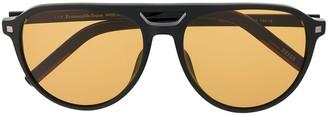 Ermenegildo Zegna Tinted Aviator Frame Sunglasses