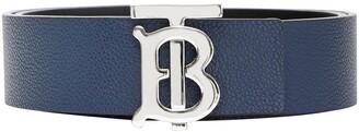 Burberry Reversible Monogram-Motif Belt