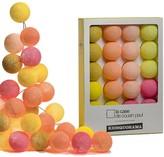 La Case De Cousin Paul La Case de Cousin Paul - Polyester Kiosquorama Garland Lamp - Pink/Orange/Yellow