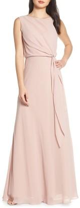 Jenny Yoo Collection Chiffon Overlay Evening Dress