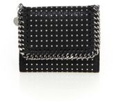 Stella McCartney Small Studded Faux-Leather Flap Wallet