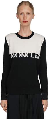Moncler LOGO INTARSIA WOOL & CASHMERE SWEATER