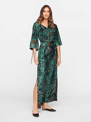 Diane von Furstenberg Caris Silk-Twill Belted Maxi Dress