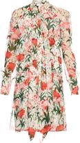 Erdem Stevie Carnation-print silk-voile dress
