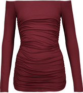 Bailey 44 Off-the-shoulder ruched stretch-jersey top