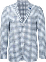 Lardini checked blazer - men - Cotton - 48