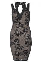 Quiz Black Lace Bodycon Dress