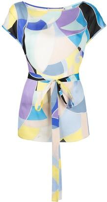 Emilio Pucci Quirimbas printed silk top
