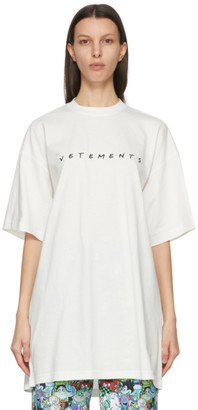 Vetements White Friendly Logo T-Shirt