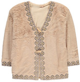 Louise Misha Djebel Embroidered Faux Fur Coat - Teen & Women's Collection