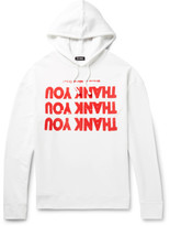 Raf Simons Oversized Printed Loopback Cotton-jersey Hoodie - White