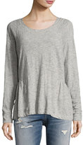 Current/Elliott The Girlie Sweat Top, Gray