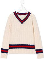 Gucci Kids - striped detail jumper - kids - Wool - 4 yrs