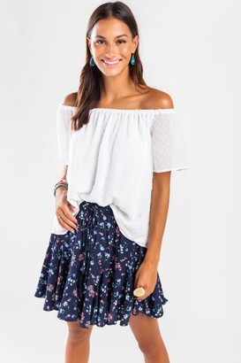 francesca's Rosie Off The Shoulder Blouse - White
