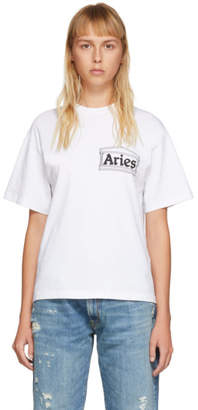 Aries White Skate T-Shirt
