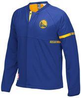 adidas Men's Golden State Warriors On-Court Henley Jacket