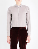 Etro Triangle-print slim-fit cotton shirt