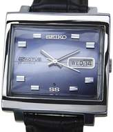 Seiko 5 Actus Stainless Steel / Leather Vintage 34mm Mens Watch
