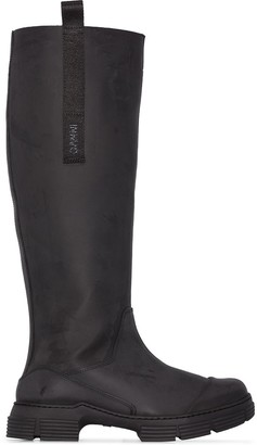 Ganni Knee High Rubber Boots