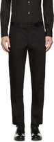 Dolce & Gabbana Black Accent Trim Cropped Trousers