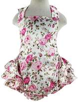 Wennikids Baby Girl's Summer Dress Clothing Ruffle Baby Romper Large