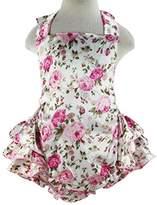 Wennikids Baby Girl's Summer Dress Clothing Ruffle Baby Romper Small