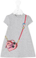 Little Marc Jacobs bag print dress - kids - Cotton/Spandex/Elastane/Viscose - 18 mth