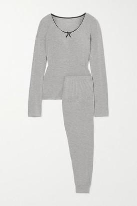 Morgan Lane June Lace-trimmed Jersey Pajama Set - Gray