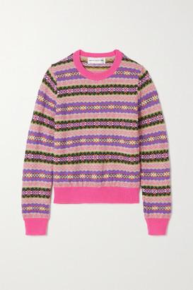 COMME DES GARÇONS GIRL Fair Isle Wool-blend Sweater - Pink