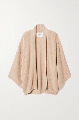 I Love Mr Mittens Oversized Ribbed Cotton Cardigan - Beige