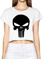 JXMD Women's Dew Navel T The Punisher Skull Hipsters Boyshorts S