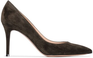 Gianvito Rossi 85mm Suede Point-Toe Pumps