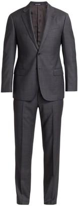 Emporio Armani Plaid Super 140S Wool Suit
