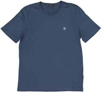 Louis Vuitton Blue Cotton T-shirts