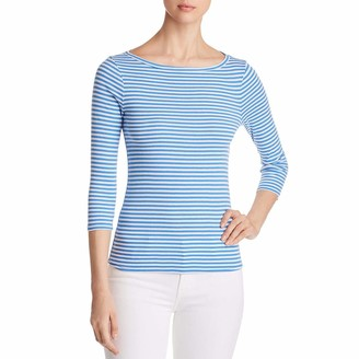 Three Dots Women's Desert Stripe Short Tight 3/4 Tee