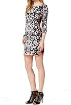 Vince Camuto Women's Elbow Length Geometric Print Shift Dress