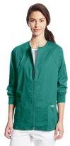 Cherokee Women's Workwear Scrubs Core Stretch Zip-Front Warm-Up Jacket