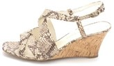 Etienne Aigner Womens Ashton Fabric Open Toe Casual Wedged, Mahogany, Size 9.5.