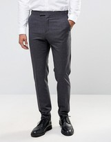Reiss Slim Smart Pants In Fleck