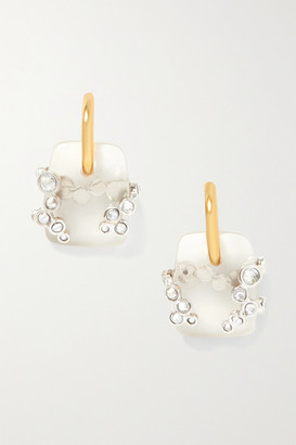 Chloé Gold-tone, Quartz And Crystal Earrings - One size