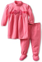 Armani Junior Bow/Embezzelment Dress/Legging Set (Infant) (Pink) - Apparel