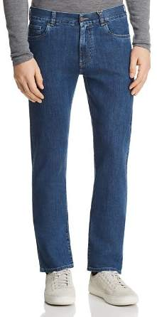 Canali Stretch New Tapered Fit Jeans in Blue Denim