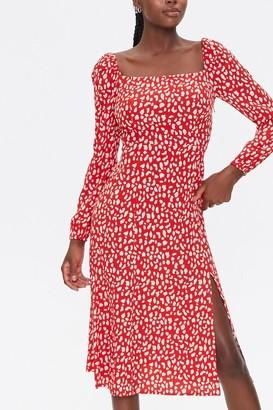 Forever 21 Gingham Slit Dress