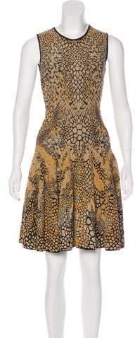 Alexander McQueen Metallic Knit Dress