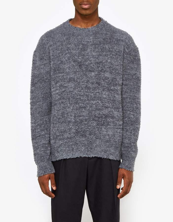 Jil Sander Crew Neck LS Sweater in Open Grey