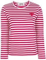 Comme des Garcons striped bi-colour tee
