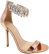 Wild Diva Rose Gold Rhinestone Adele Sandal