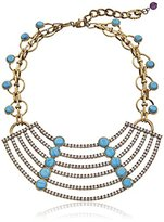 """m. haskell Purple by Riviera"""" Turquoise Faceted Bead Multi-Row Necklace"""