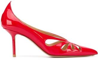 Francesco Russo pointed toe cut-out detail pumps
